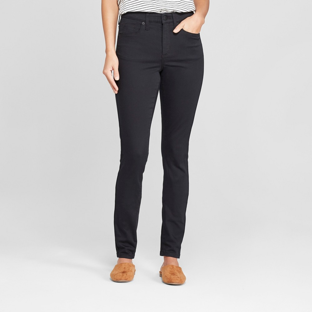 Women's Highest-Rise Skinny Jeans - Universal Thread Black Wash 10 Long