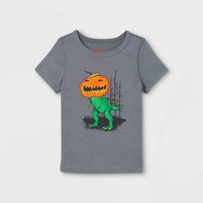Toddler Boys' Adaptive Halloween Printed Short Sleeve Graphic T-Shirt - Cat & Jack™