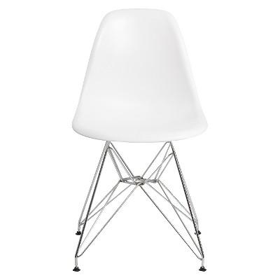 Set of 2 Paris Molded Plastic Chair White - AEON