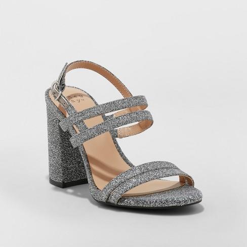 28e7d4e46cf561 Women s Estella Strappy Stiletto Heeled Sandal Pumps - A New Day ...