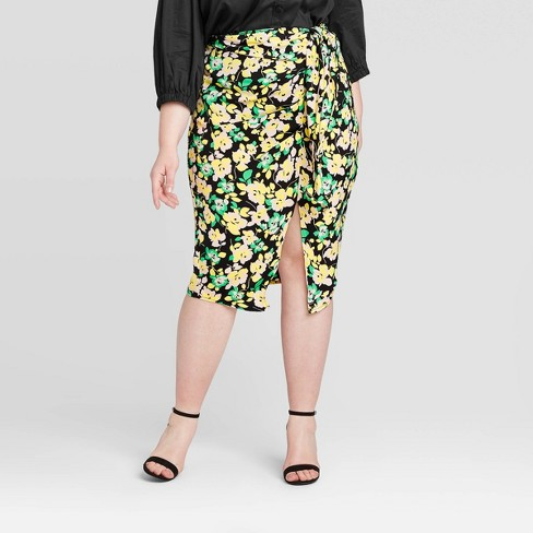 Women's Plus Size Mid-Rise A-Line Midi Skirt - Who What Wear™ - image 1 of 3