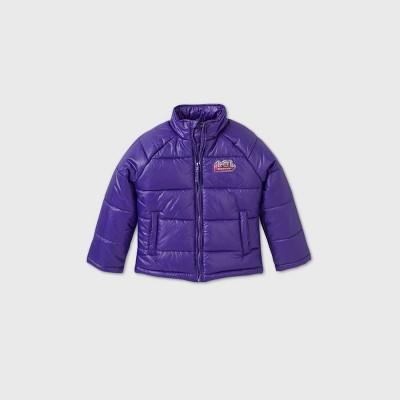 Girls' L.O.L. Surprise! Flip Sequin Puffer Jacket - Purple 4