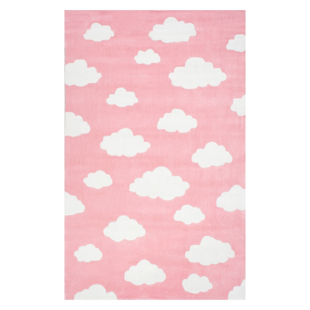 Pink Solid Tufted Area Rug 4'X6' - nuLOOM