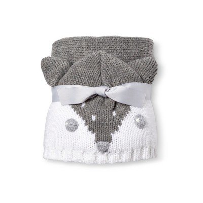 Baby Blanket Fox - Cloud Island™ Heather Gray