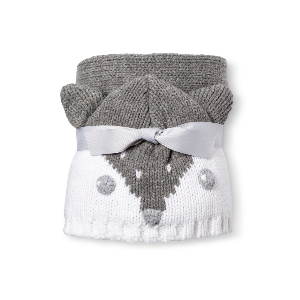 Image of Baby Blanket Fox - Cloud Island Heather Gray