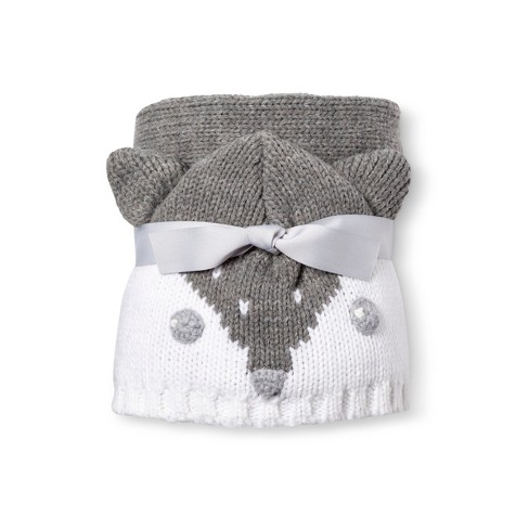 Baby Blanket Fox - Cloud Island™ Heather Gray   Target a1eb427c6