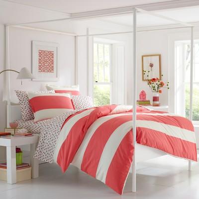 Red Sloane Comforter Set (Full/Queen)- Poppy & Fritz