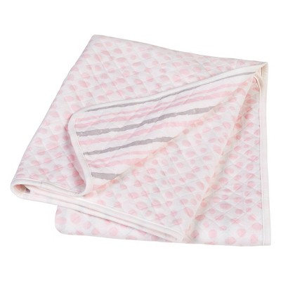 Trend Lab Baby Blanket Scuba Knit - Pink/Gray