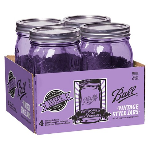 Ball 4ct Heritage Collection 32oz Jars - Purple - image 1 of 1
