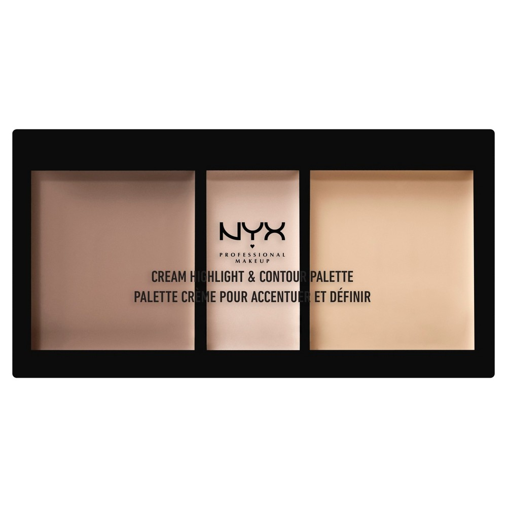 Nyx Professional Makeup Cream Highlight & Contour Palette Light - 0.38oz