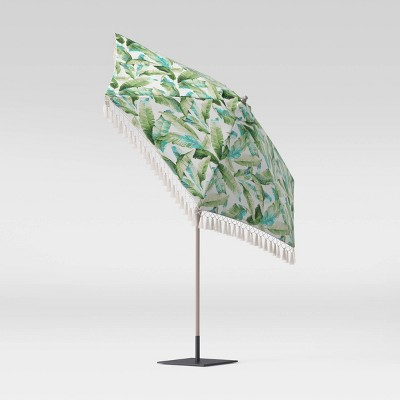 9' Round Patio Umbrella DuraSeason Fabric™ Vacation Tropical - Threshold™