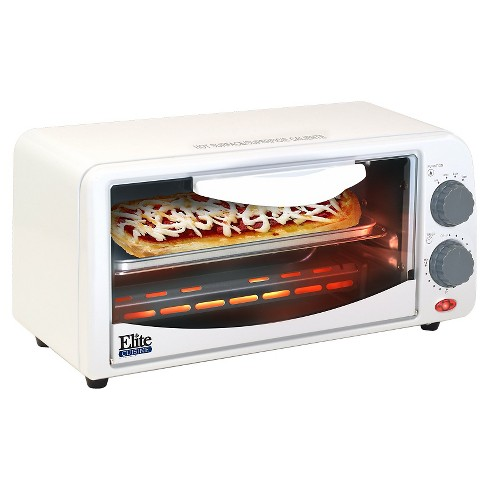 Elite Cuisine 2- Slice Toaster Oven with Broiler & Timer in White - image 1 of 2