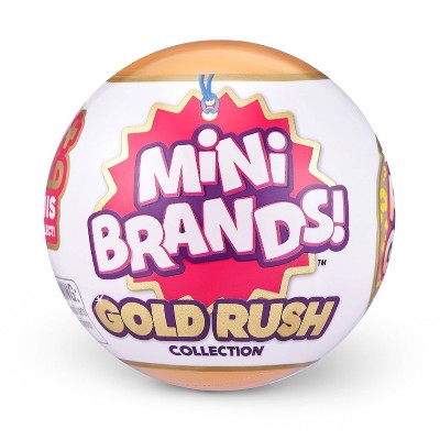 5 Surprise Mini Brands - Gold Rush Limited Edition