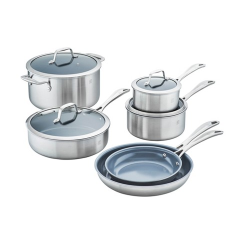 ZWILLING Spirit 3-ply 10-pc Stainless Steel Ceramic Nonstick Cookware Set - image 1 of 4
