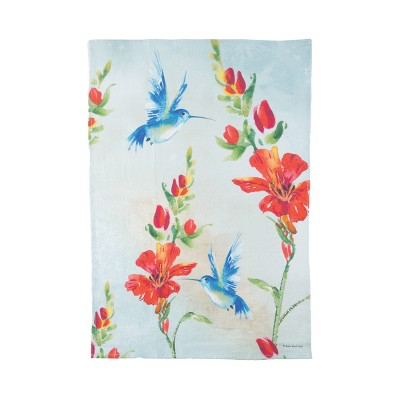 C&F Home Blue Hummingbirds Embroidered Cotton Kitchen Towel