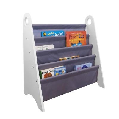 Modern Sling Bookshelf White/Gray - WildKin