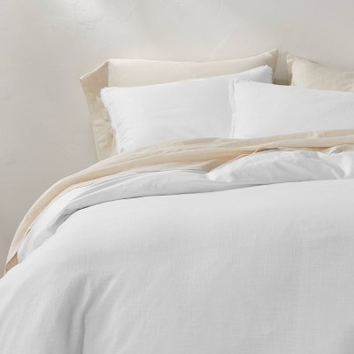 Heavyweight Linen Blend Duvet & Pillow Sham Set - Casaluna™