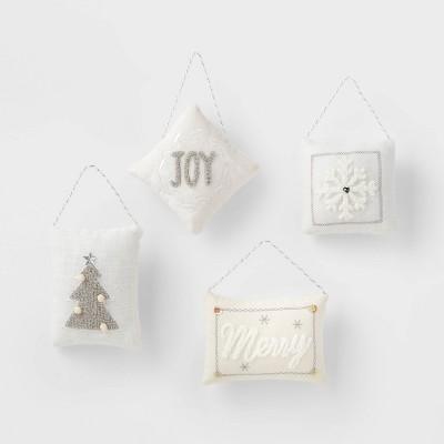 4pk Pillow Christmas Tree Ornaments - Wondershop™