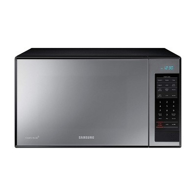 Samsung MG14H3020CM 1.4 CF Stainless Steel Countertop Microwave Oven with Grilling Element and Ceramic Plate, Black & Silver (Certified Refurbished)