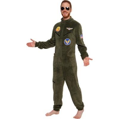 FUNZIEZ! - Fighter Pilot Slim Fit Adult Unisex Novelty Union Suit