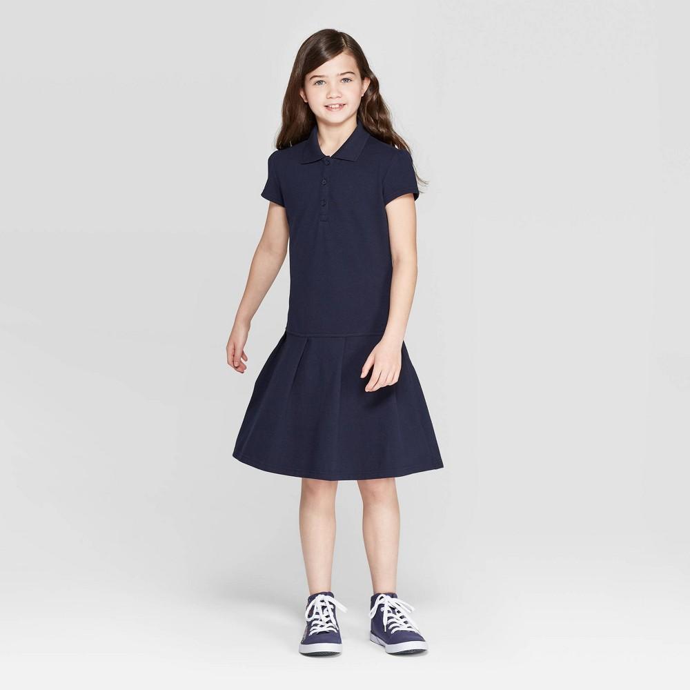 Image of Girls' Pleated Uniform Tennis Dress - Cat & Jack Navy M, Girl's, Size: Medium, Blue
