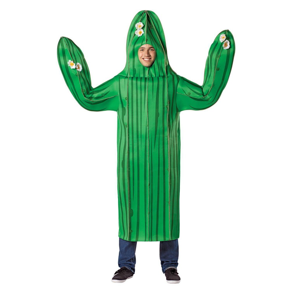 Image of Halloween Adult Cactus Halloween Costume One Size, Adult Unisex, MultiColored