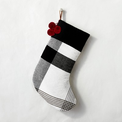 Holiday Stocking Black/White Plaid - Hearth & Hand™ with Magnolia