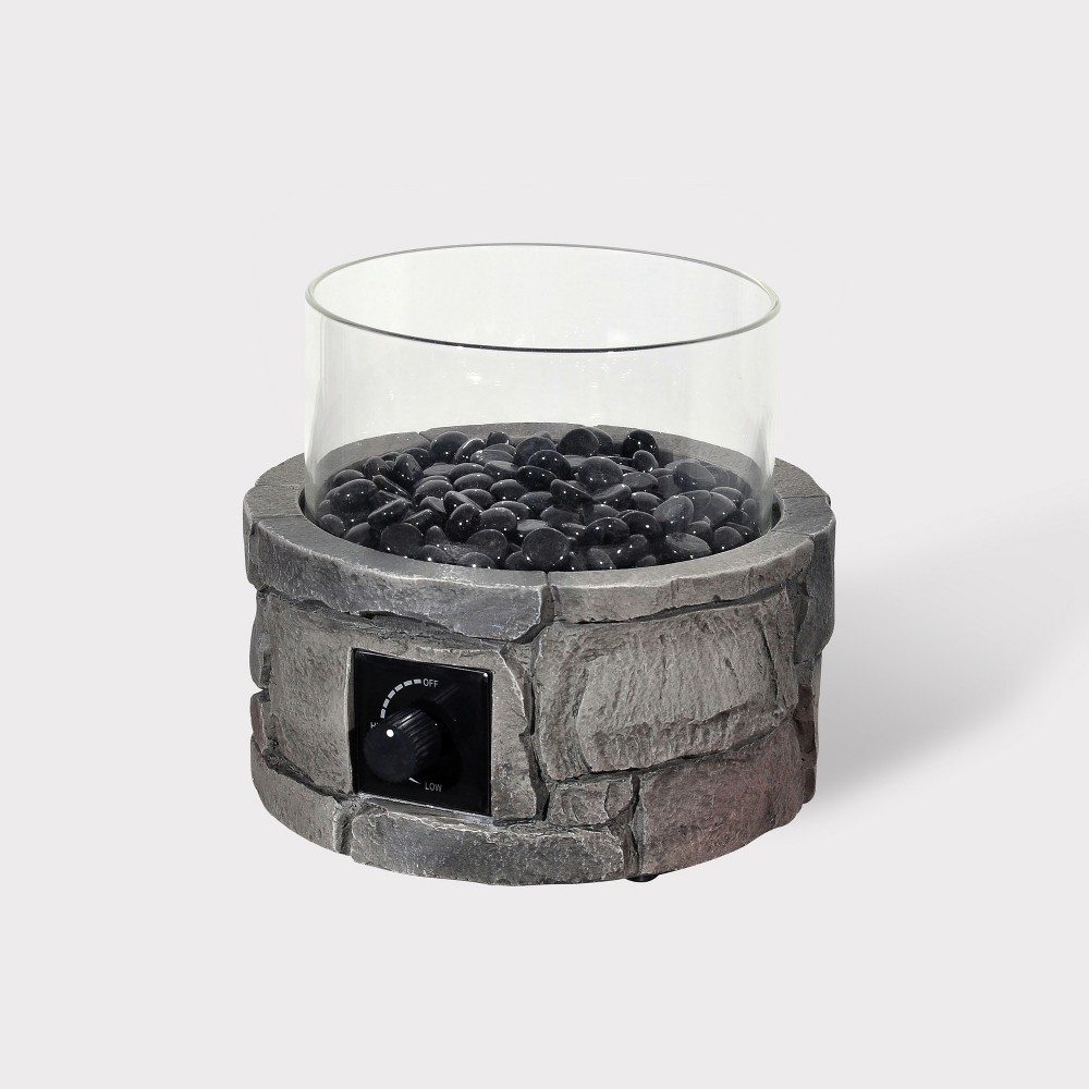 "Image of ""10"""" Round Tabletop Fire Pit - Dark Gray - Bond, White"""