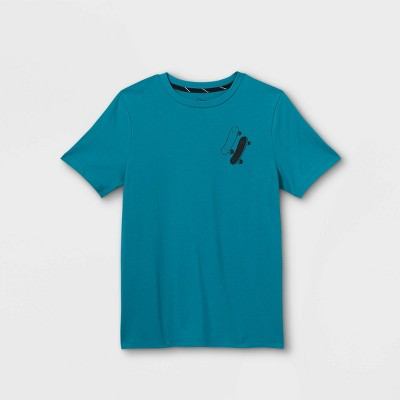 Boys' 'Let's Ride' Graphic Long Sleeve T-Shirt - art class™ Teal