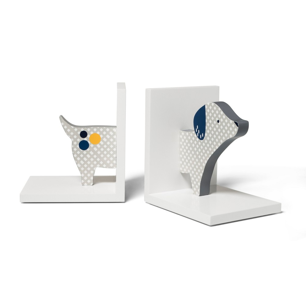 Image of Decorative Bookend Dog - Cloud Island White, Blue White
