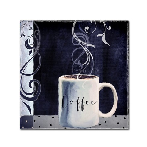 Cafe Blue I By Color Bakery Ready To Hang Canvas Wall Art 24 X24