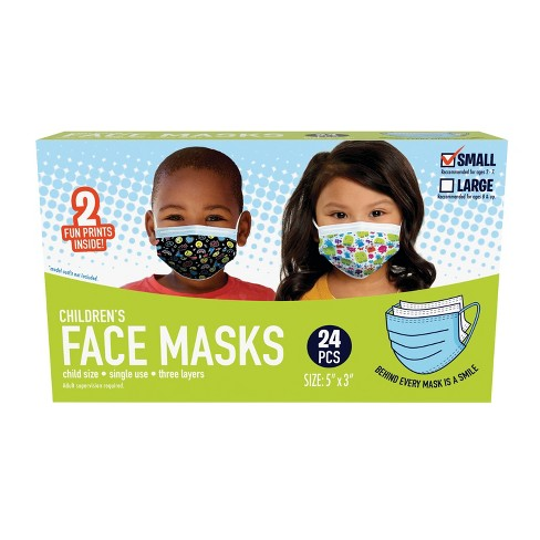 Just Play Kid's Face Mask - S - 24pc - image 1 of 4
