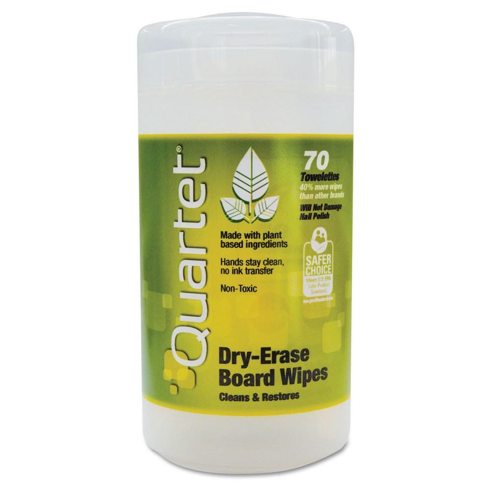 Quartet Cloth Dry Erase Wet Wipes (Tub of 50), White
