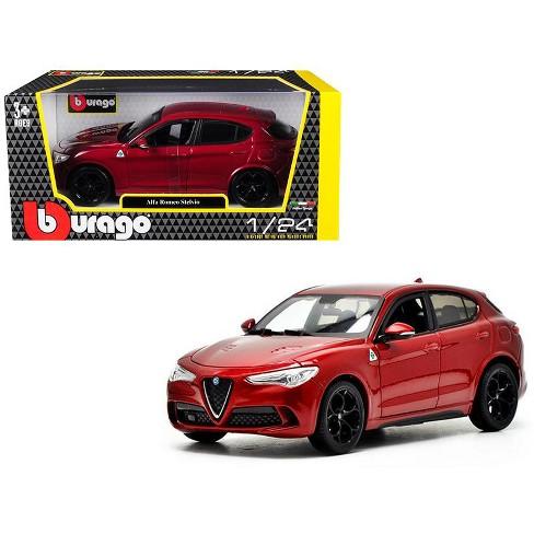Alfa Romeo Models >> Alfa Romeo Stelvio Quadrifoglio Red 1 24 Diecast Model Car By Bburago