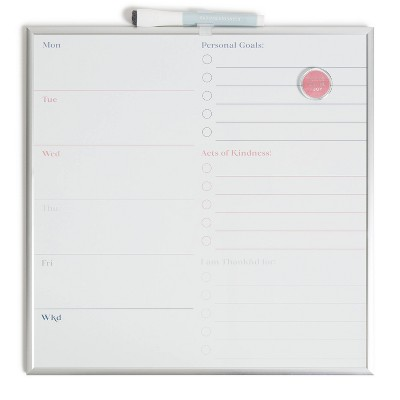 "14"" Square Dry Erase Wellness Board - U Brands"