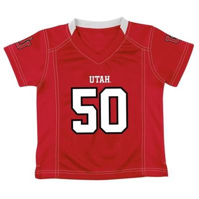 NCAA Utah Utes Boy's Short Sleeve V-Neck Replica Jersey