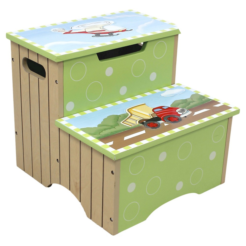 Image of Fantasy Fields Transportation Step Stool - Teamson