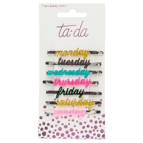 Ta-da™ Girls' Days of the Week Bobby Slides - 7ct - image 1 of 3