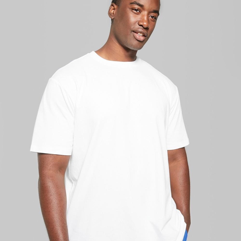 Men's Big & Tall Short Sleeve Boxy T-Shirt - Original Use White 4XB