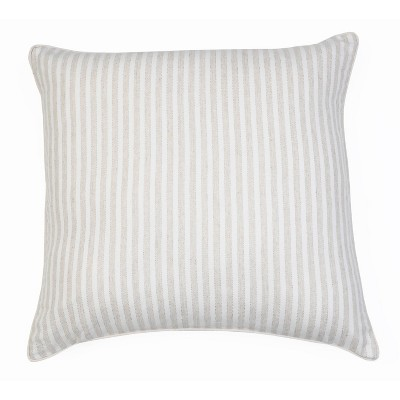 "22""x22"" Brantlee Lurex Stripe Pillow Cream - Décor Therapy"