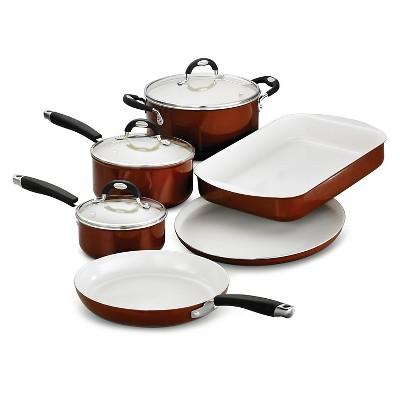 Tramontina Style Ceramica Metallic Copper 9-Piece Cookware/Bakeware Set