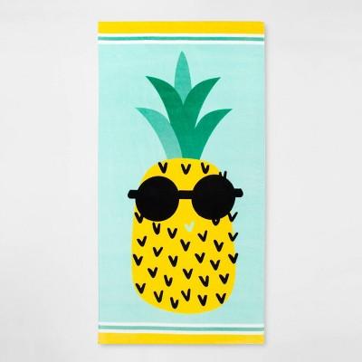 Sunglass Pineapple Beach Towel - Sun Squad™