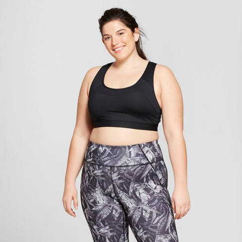 12ce9d73ebe2f Women s Plus Size Strappy Back Sports Bra - C9 Champion® Black 2X ...