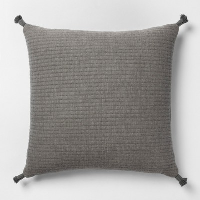 Gauze Texture Square Throw Pillow Gray + Nate Berkus - Project 62™