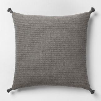 Gauze Texture Square Throw Pillow Gray + Nate Berkus  - Project 62™