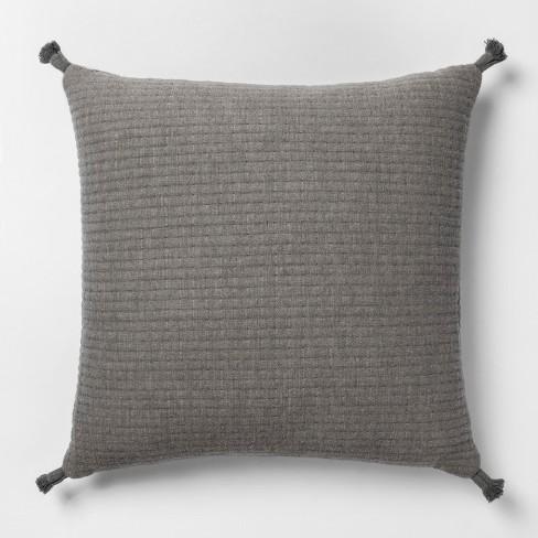 Gauze Texture Square Throw Pillow Gray + Nate Berkus  - Project 62™ - image 1 of 3