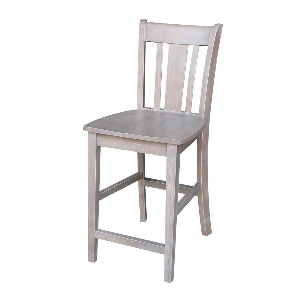 24.02 San Remo Counter height Stool Washed Gray Taupe - International Concepts