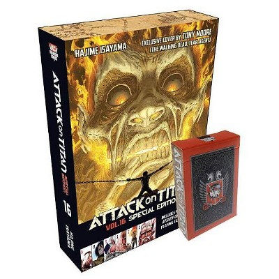 Attack on Titan 16 Manga Special Edition with Playing Cards - (Attack on Titan Special Edition) by  Hajime Isayama (Mixed Media Product)