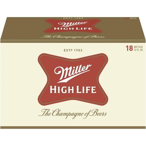 Miller High Life Beer - 18pk/12 fl oz Bottles - image 1 of 4