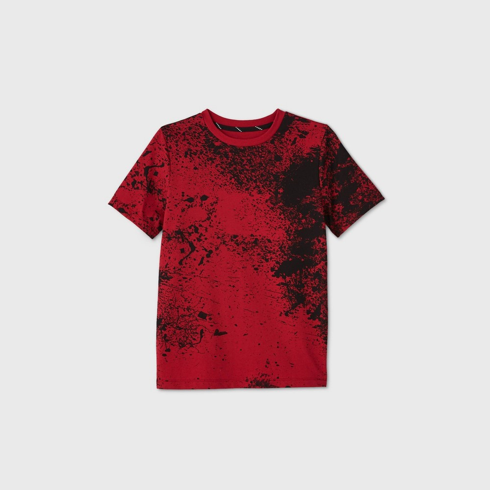 Boys 39 Short Sleeve Splatter Graphic T Shirt Art Class 8482 Red L